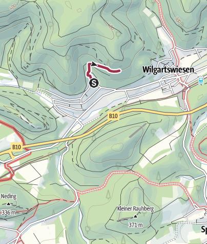 Karte / Zustieg - Eselsfels