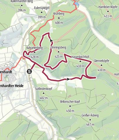 Karte / Kallenhardt - Glennetal & Kalvarienberg