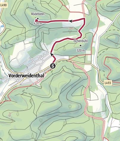 Karte / Zustieg - Rödelstein
