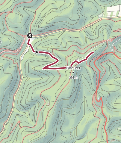 Karte / Zustieg - Hohe Derst Tisch