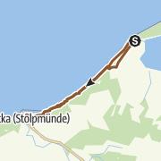 Karte / Küstentrail von Rowy nach Stolpmünde durch die Küstenwälder