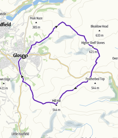 Map / Glossop 3 Trigs - Suggested
