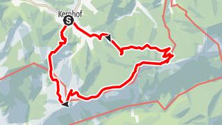 """Map / Gippel, """"Bergrettungssteig"""" (I+), Schnalzstein und Hofalm ab/bis Kernhof"""