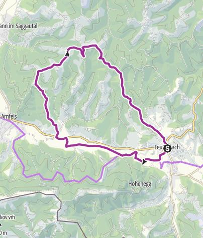 Karte / WEINradeln in Leutschach an der Weinstraße - Eichberg - Hopfen trifft Wein