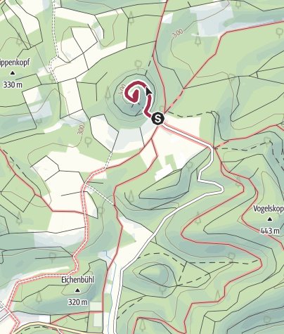 Karte / Zustieg - Ruine Lindelbrunn