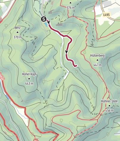 Karte / Zustieg - Birkenfels