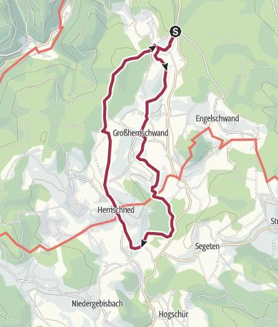 Karte / Herrischried: Ausblicksvolle Rundwanderung