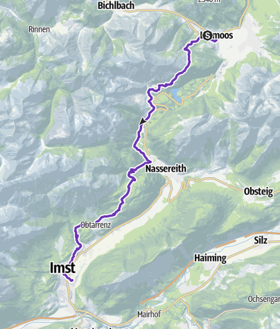 Karte / GORE-TEX® TRANSALPINE-RUN 2016 2. Etappe ALTERNATIVE