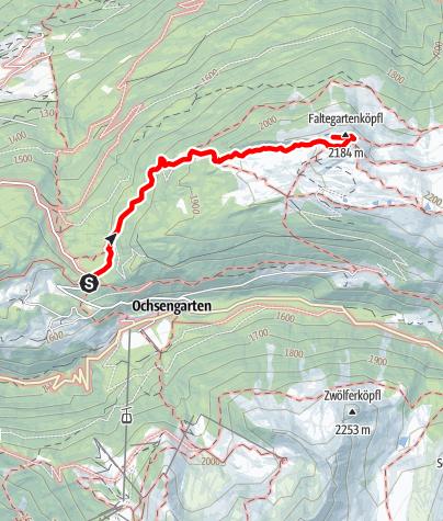 Map / Faltegartenköpfl