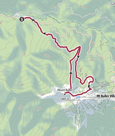 Map / Route from Mt Buller via Kingsporn Bridle Track