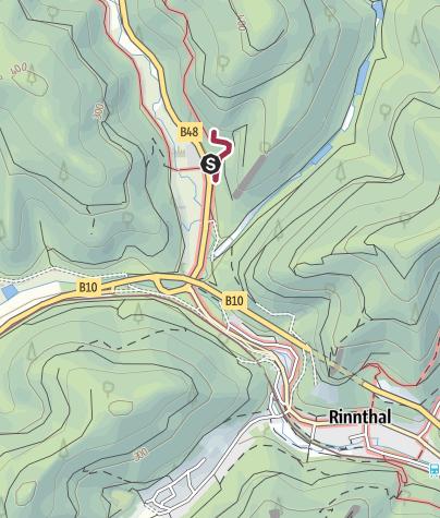 Karte / Zustieg - Frohndellpfeiler