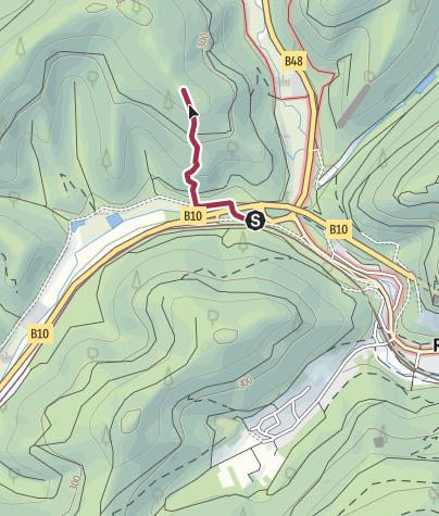 Karte / Zustieg - Göckelsbergpilz