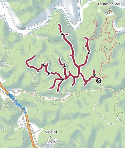 Map / Rocky Branch/Jailhouse Rock/Cruiseliner Rock