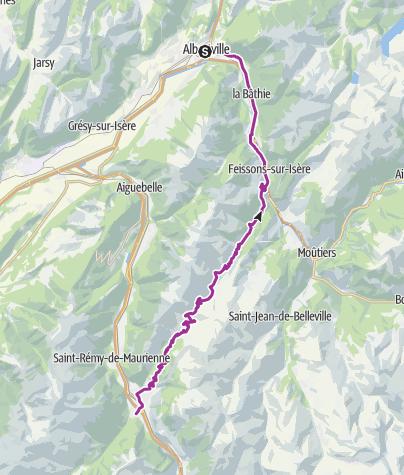 Map / Albertville - Sainte-Marie-de-Cuines - 66.2 km