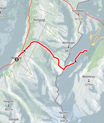 Karte / Königsjoch