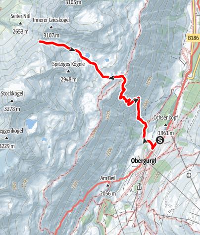 Map / Gurgler Scharte
