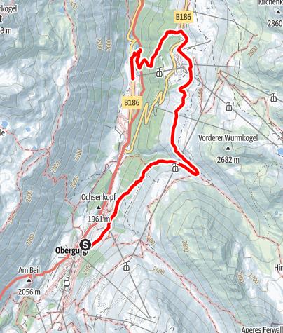 Karte / Höhenweg Hochgurgl