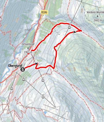 Karte / Gurgler Heide - Ferwalltal - Königstal