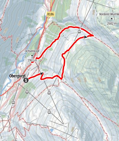 Map / Gurgler Heide - Ferwalltal - Königstal
