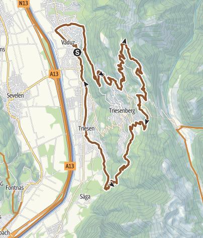 Karte / Triesenberg-Tour
