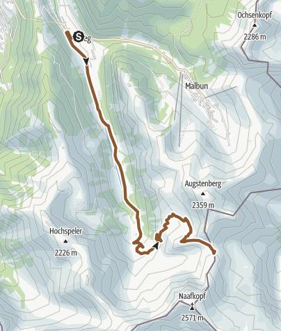 Map / Pfälzerhütte-Tour