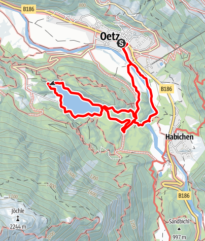 Map / Oetz - Lake Piburger See - Oetz