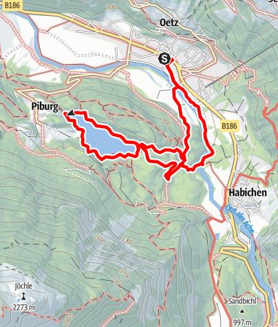 Karte / Oetz - Piburger See - Oetz