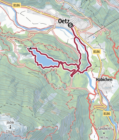 Map / Oetz - Lake Piburger See - Oetz