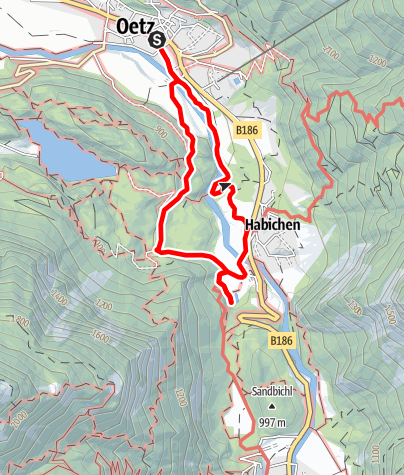 Map / Oetz - Lake Habicher See - Oetz