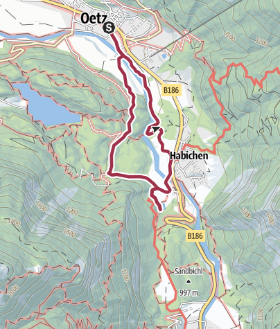 "Map / ""9 treasures"" Lake Habicher See"