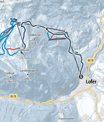 Karte / Von Lofer auf das Grubhörndl (1.747 m)