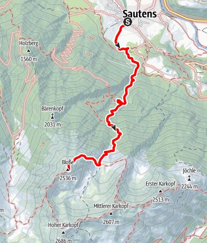 Map / Blosse - Sautens