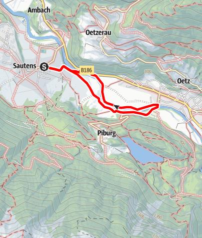 Karte / Familienrunde Sautens - Oetz - Sautens