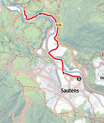 Karte / Wanderung AREA 47 - Sautens