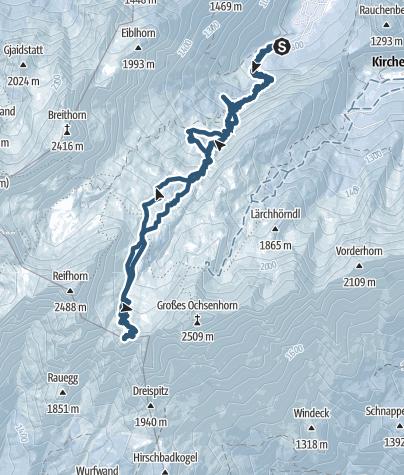 Karte / Skitour auf das Skihörndl (2.286 m)