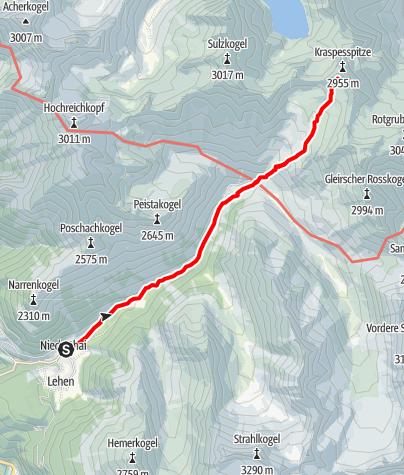 Map / Kraspessspitze