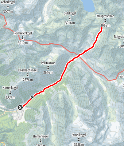 Karte / Kraspessspitze