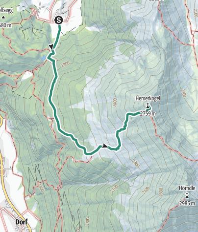 Map / Hemerachalm - Hemerkogel