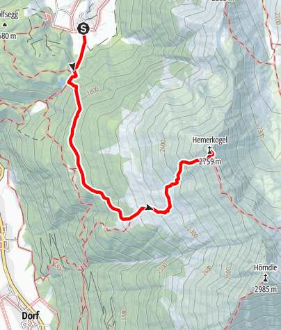 Map / Hemerkogel 2.759m - Umhausen-Niederthai