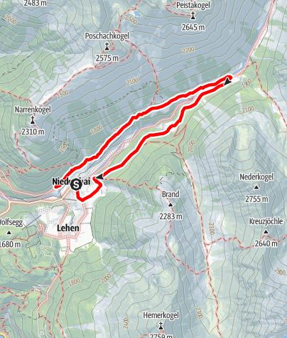 Karte / Rundwanderung Bergmahderweg - Umhausen-Niederthai