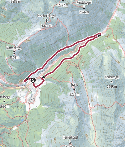 Map / circular walk Bergmahderweg - Umhausen-Niederthai