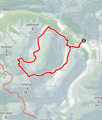 Karte / Mittertal - Wetterkreuz