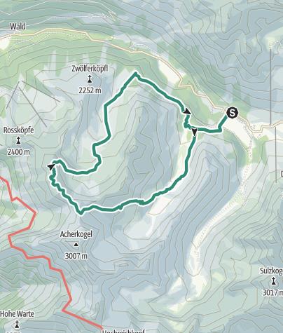 Map / Mittertal - Wetterkreuz