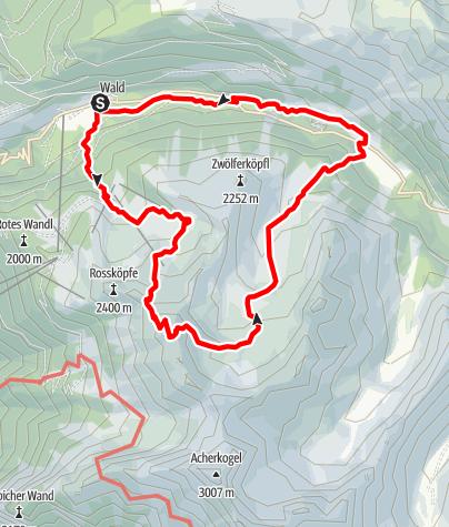 Karte / Ochsengarten - Gipfeltour Wetterkreuz