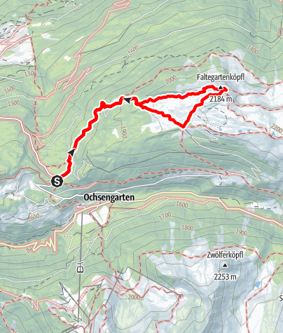 Karte / Bettlersteig - Faltegartenköpfl - Ochsengarten