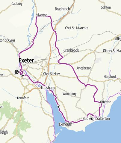 Map / Devon Road Cycling Jan 27, 2021 at 9:47 AM