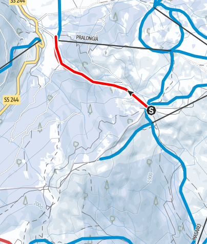 Mappa / Sentiero slittabile Planac