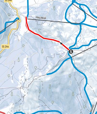 Map / Natural toboggan run Planac