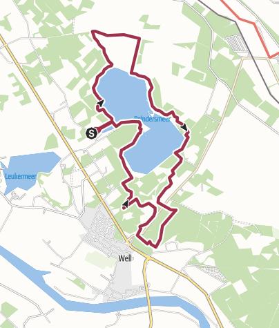 Map / Maasduinen, Reindersmeer, 13,5km