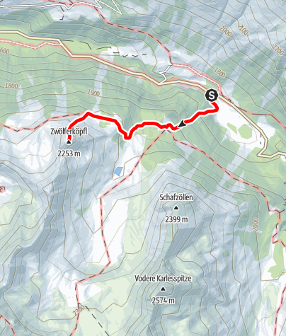 Map / Zwölferköpfl peak